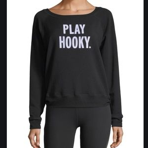 kate spade x beyond yoga play hooky sweater xs nwt
